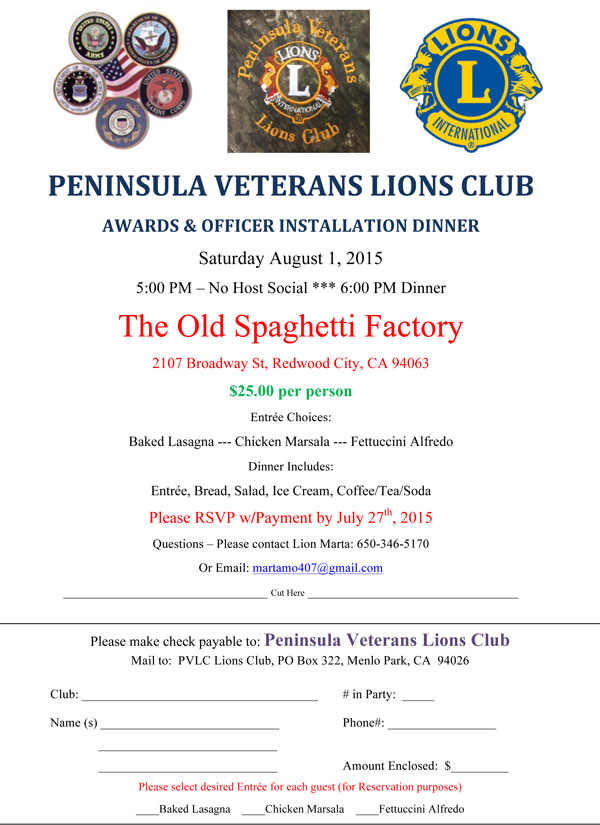 Peninsula Veterans Officer Installation August 1, /2015